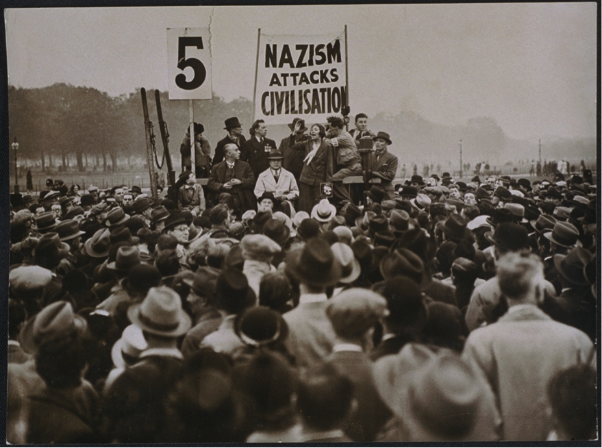 Antifascist demo in london, 1935